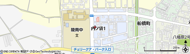 山形県寒河江市内ノ袋周辺の地図
