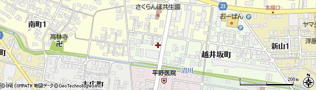 山形県寒河江市越井坂町55周辺の地図