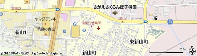 山形県寒河江市新山町2周辺の地図