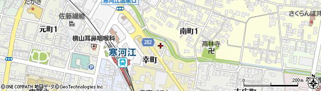 山形県寒河江市幸町2-15周辺の地図