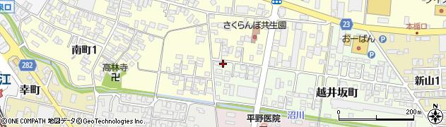 山形県寒河江市越井坂町50周辺の地図