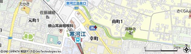 山形県寒河江市幸町2-8周辺の地図