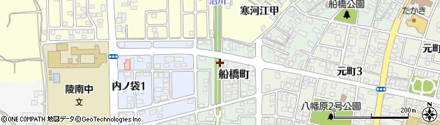 山形県寒河江市船橋町17周辺の地図