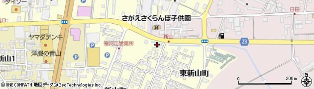 山形県寒河江市東新山町215周辺の地図