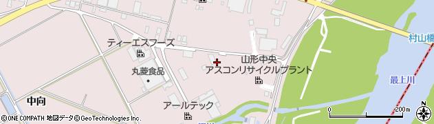 山形県寒河江市日田中向373周辺の地図