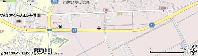 山形県寒河江市日田五反159周辺の地図