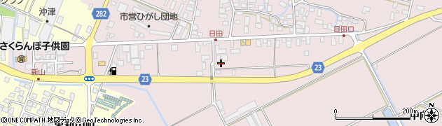山形県寒河江市日田五反150周辺の地図