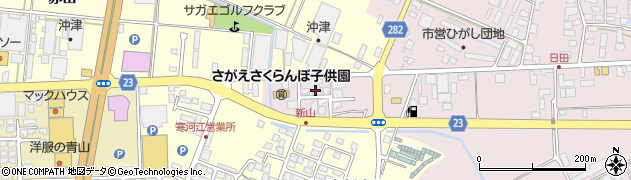 山形県寒河江市日田五反204周辺の地図