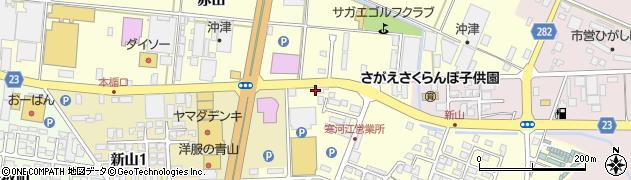 山形県寒河江市新山町108周辺の地図