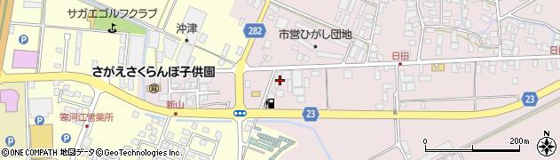 山形県寒河江市日田五反86周辺の地図
