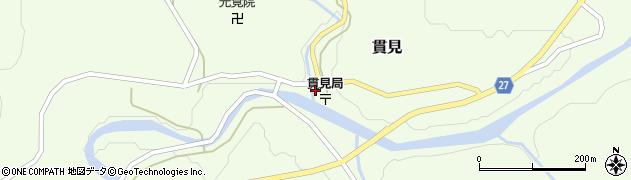 山形県西村山郡大江町貫見周辺の地図