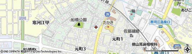 山形県寒河江市船橋町2周辺の地図