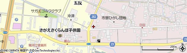 山形県寒河江市日田五反78周辺の地図