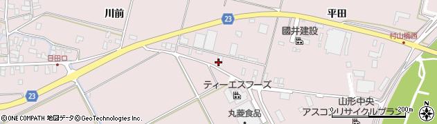山形県寒河江市日田平田193-1周辺の地図