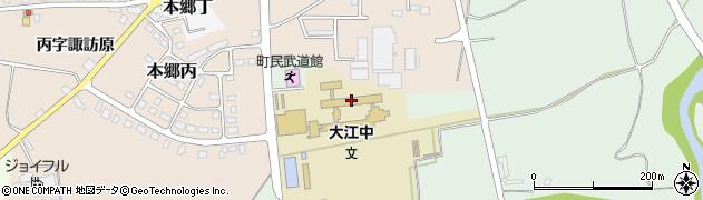 山形県西村山郡大江町本郷己605周辺の地図