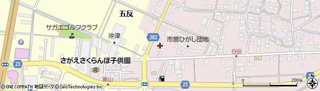 山形県寒河江市日田五反79周辺の地図