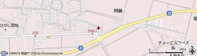 山形県寒河江市日田楯越128周辺の地図
