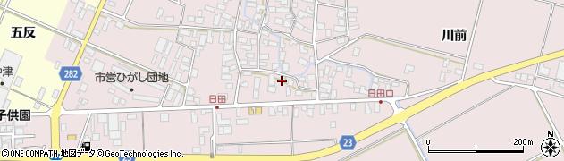 山形県寒河江市日田561周辺の地図