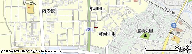 山形県寒河江市寒河江小和田52周辺の地図