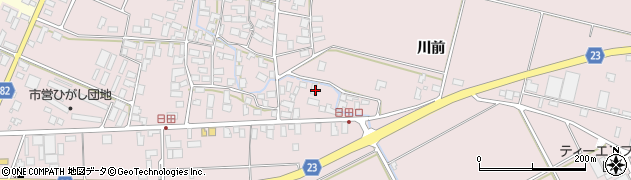 山形県寒河江市日田574周辺の地図