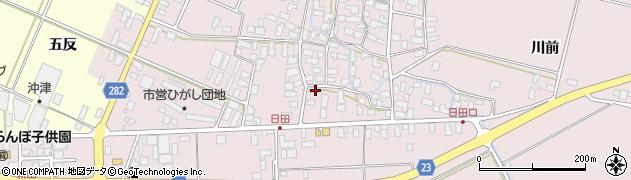 山形県寒河江市日田554周辺の地図