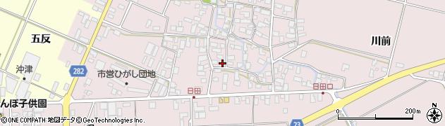 山形県寒河江市日田547周辺の地図