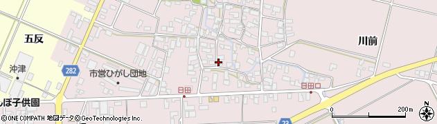 山形県寒河江市日田552周辺の地図