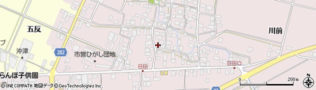 山形県寒河江市日田546周辺の地図