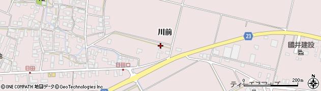 山形県寒河江市日田川前81周辺の地図