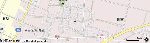 山形県寒河江市日田402周辺の地図