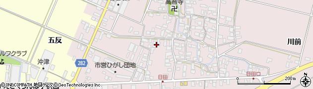 山形県寒河江市日田五反40周辺の地図