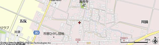 山形県寒河江市日田五反45周辺の地図