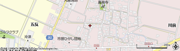 山形県寒河江市日田五反36周辺の地図