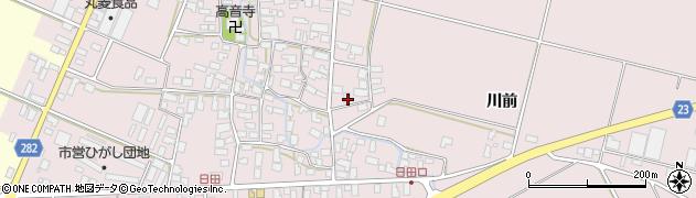 山形県寒河江市日田楯越410周辺の地図