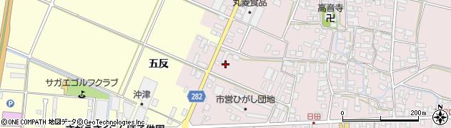 山形県寒河江市日田五反12周辺の地図