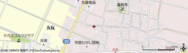 山形県寒河江市日田五反29周辺の地図