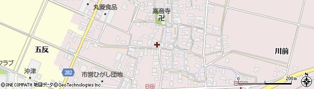 山形県寒河江市日田537周辺の地図