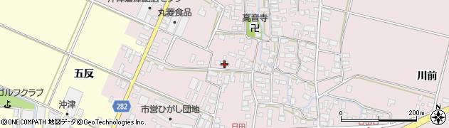 山形県寒河江市日田531周辺の地図