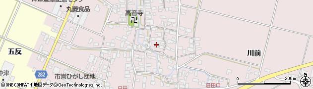 山形県寒河江市日田393周辺の地図
