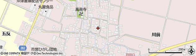 山形県寒河江市日田395周辺の地図