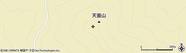 天蓋山周辺の地図