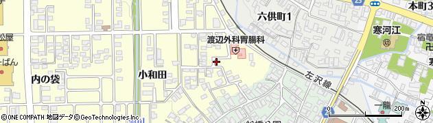 山形県寒河江市寒河江小和田周辺の地図