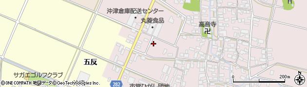 山形県寒河江市日田五反8周辺の地図