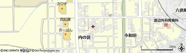 山形県寒河江市寒河江内の袋24周辺の地図