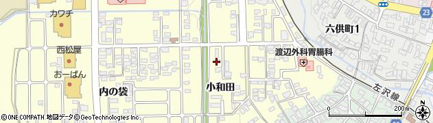 山形県寒河江市寒河江小和田33周辺の地図
