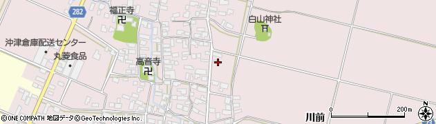 山形県寒河江市日田楯越70周辺の地図