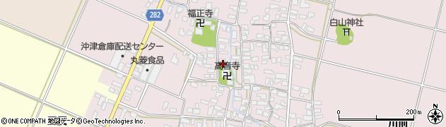 山形県寒河江市日田521周辺の地図