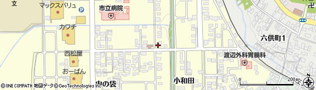 山形県寒河江市寒河江小和田2周辺の地図