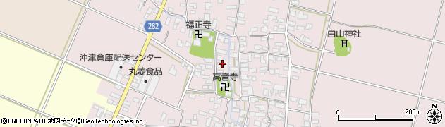 山形県寒河江市日田518周辺の地図