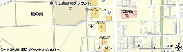 山形県寒河江市寒河江内の袋3周辺の地図